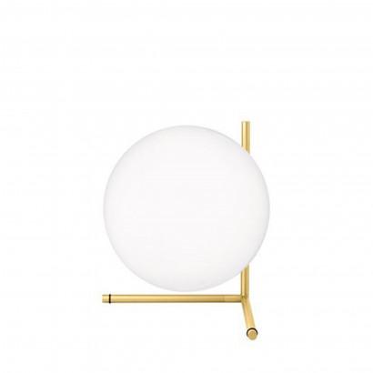 Höhenverstellbarer Schreibtisch, silbernes Gestell und eine weiße Tischplatte - Standard