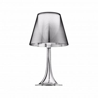 Höhenverstellbarer Schreibtisch, silbernes Gestell und eine dunkelgraue Tischplatte - Standard