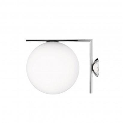 Höhenverstellbarer Schreibtisch, silbernes Gestell und eine Tischplatte in Walnuss - Standard