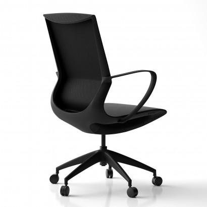 Höhenverstellbarer Schreibtisch in Eckform, weißes Gestell und eine Tischplatte in Eiche- Premium