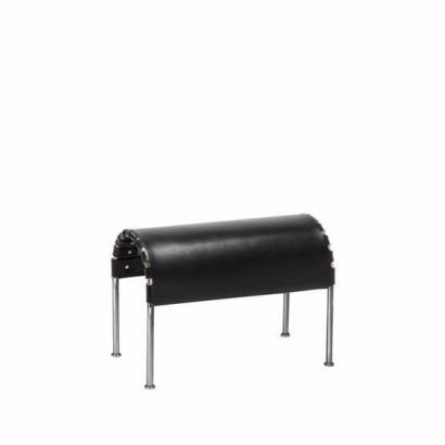 Bruno fotpall - svart, kromstativ