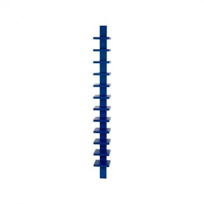 Pilaster vägghylla - blå bets