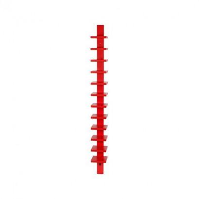Pilaster vägghylla - röd bets