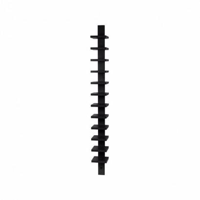 Pilaster vägghylla - svart bets