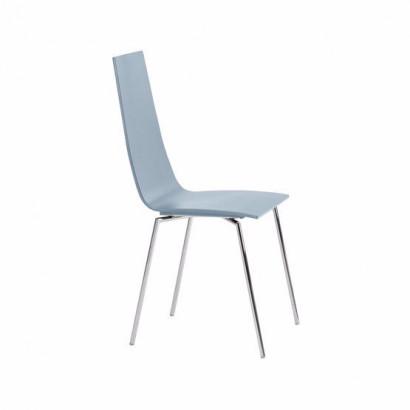 Cobra stol - himmelsblå, kromstativ