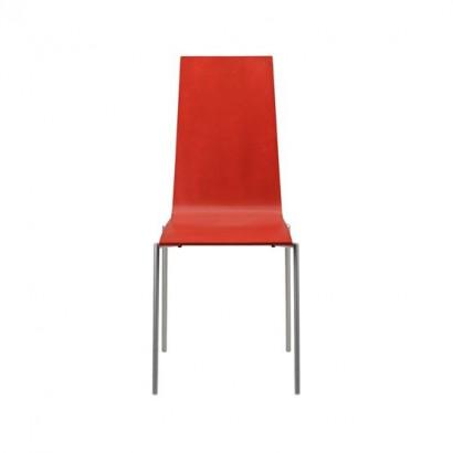 Cobra stol - röd, kromstativ