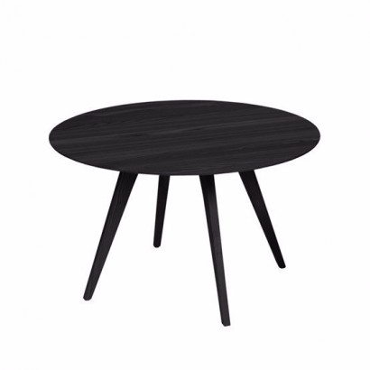 Spot bord - svartlaserad ask, ø¸85 cm