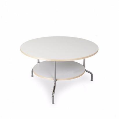 Sven soffbord - vit, krom