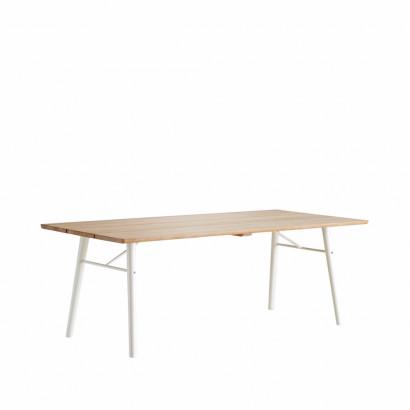 Split matbord - ek, vita ben