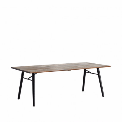 Split matbord - ek, svarta ben