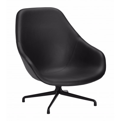 About A Lounge 91 läder/aliminum