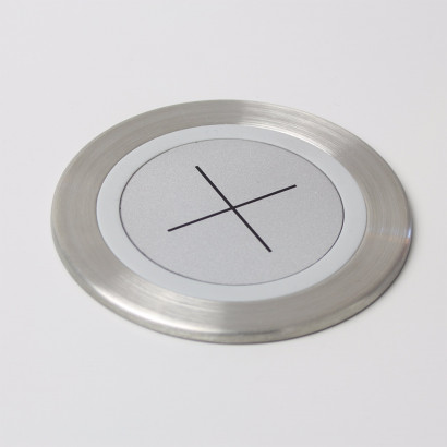 Axessline Qi Wireless Charger - borstat stål