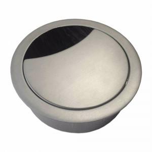 Bordsgenomföring, Ø 60 mm Borstad stål