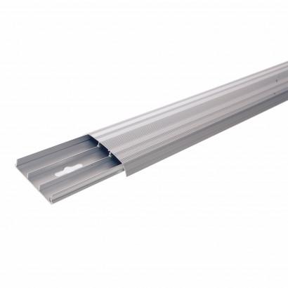 Golvlist - kabelkanal i Aluminium, 2500 mm