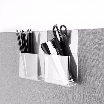 Pennkopp i transparent akryl - Tillbehör till Abstractas bord- och golvskärmar