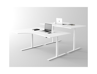 Geschwungener Schreibtisch