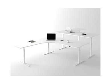 Hjørne hæve sænkebord – DPJ Workspace