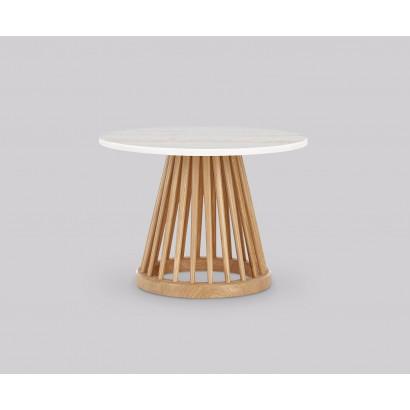 Sähköpöytä, AdjusTable EVO1, valkoinen runko & tammenvärinen kansi