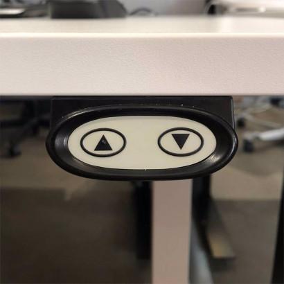 Työpöytä, Brizley Bas, valkoinen runko & tummanharmaa kansi